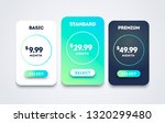 vector pricing table set design ... | Shutterstock .eps vector #1320299480