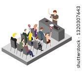 isometric auction illustration | Shutterstock .eps vector #1320307643