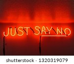 Just Say No Red Neon Sign