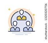 team communication vector icon | Shutterstock .eps vector #1320320756