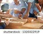 on working day at lunch break... | Shutterstock . vector #1320322919