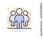 leadership vector icon | Shutterstock .eps vector #1320326843