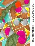 watercolor geometrical pattern | Shutterstock . vector #1320347180