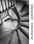 Spiral Staircase In An Old...