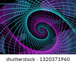 abstract neon shape  futuristic ... | Shutterstock .eps vector #1320371960