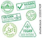 vegan and natural food. rubber... | Shutterstock . vector #132037439