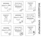wedding invitation  frame ... | Shutterstock .eps vector #1320399146