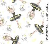 cartoon seamless pattern with... | Shutterstock .eps vector #1320403319