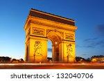 Famous Arc De Triomphe In Pari...