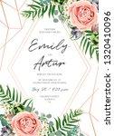 wedding floral invite... | Shutterstock .eps vector #1320410096
