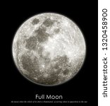 the full moon | Shutterstock . vector #1320458900