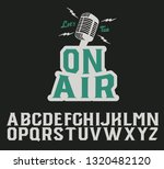 on air. serif font. original... | Shutterstock .eps vector #1320482120