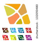 design abstract square logo... | Shutterstock .eps vector #132050480