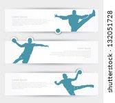 handball headers   vector... | Shutterstock .eps vector #132051728