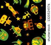 seamless sci fi background.... | Shutterstock .eps vector #1320524576