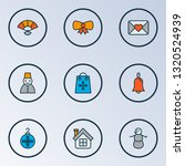 happy icons colored line set... | Shutterstock .eps vector #1320524939