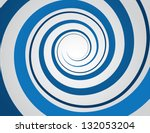 Blue Spiral And Gray Background