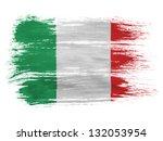 italy. italian flag  on white... | Shutterstock . vector #132053954