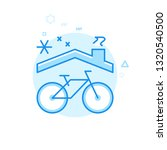 bike winter storage flat icon....