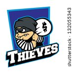 thieves mascot - stock vector