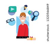 online education school | Shutterstock .eps vector #1320566849