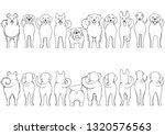 dogs breed line art border set | Shutterstock .eps vector #1320576563