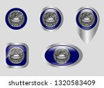 seal of the territory of... | Shutterstock .eps vector #1320583409