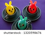 happy  colorful egg bunny... | Shutterstock . vector #1320598676