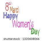 happy women's day with... | Shutterstock .eps vector #1320608066