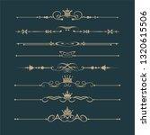 vintage design elements vector  ... | Shutterstock .eps vector #1320615506