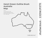 cartoon australia map  hand... | Shutterstock .eps vector #1320619370