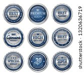 luxury blue silver badge and... | Shutterstock .eps vector #1320636719