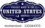 made in the united states usa | Shutterstock .eps vector #132064370