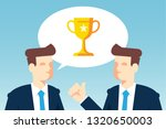 businessmen talking about... | Shutterstock .eps vector #1320650003