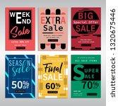 set of social media banners... | Shutterstock .eps vector #1320675446