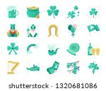 st. patrick day color icon set. ... | Shutterstock .eps vector #1320681086