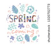 colorful vector spring...   Shutterstock .eps vector #1320702773