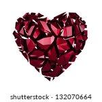 Broken Red Crystal Heart...