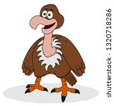 young smiling eagle standing | Shutterstock .eps vector #1320718286