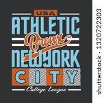 bronx athletic typography  t... | Shutterstock .eps vector #1320722303