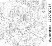 vector town city streets... | Shutterstock .eps vector #1320727289