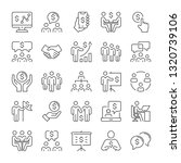 business people and money icons ... | Shutterstock .eps vector #1320739106