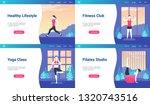 modern landing page templates...   Shutterstock .eps vector #1320743516