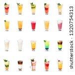 big summer drinks set | Shutterstock . vector #1320754313