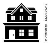 bungalow architecture glyph... | Shutterstock .eps vector #1320764243