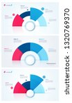 set of stylish pie chart circle ... | Shutterstock .eps vector #1320769370