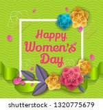 happy women's day layout design ... | Shutterstock .eps vector #1320775679