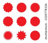 red blank promo stickers set....   Shutterstock .eps vector #1320778106