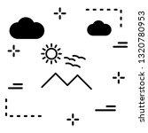 vector sunny mountain icon  | Shutterstock .eps vector #1320780953