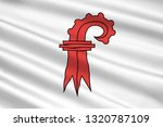 Flag of canton of Basel-Landschaft is one of the 26 cantons of Switzerland. 3d illustration